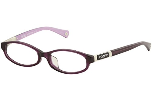 Coach Kinslee (F) Eyeglasses HC6037F 5069 Purple Demo Lens 53 16 - Reading Glasses Coach