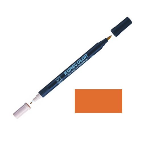 Zig-Kurecolor-Manga-Cartoonist-Fine-Brush-Dual-Tip-Marker-Orange