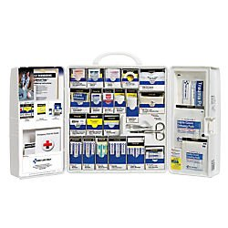 First Aid Only 50 Person, Large SmartCompliance General Workplace First Aid Plastic Cabinet with Medications by First Aid Only