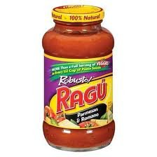 Ragu Robusto Pasta Sauce 24oz Jar (Pack of 4) (Choose Flavor Below) (Parmesan & Romano) Ragu Organic Sauce