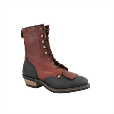 Ad Tec Men's Packer Boots, Black/Dark Cherry, 13D ()