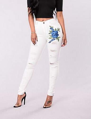 Taille Slim Jeans Femme Black Haute Skinny Skinny YFLTZ brode Jeans pour 1dq00Ux
