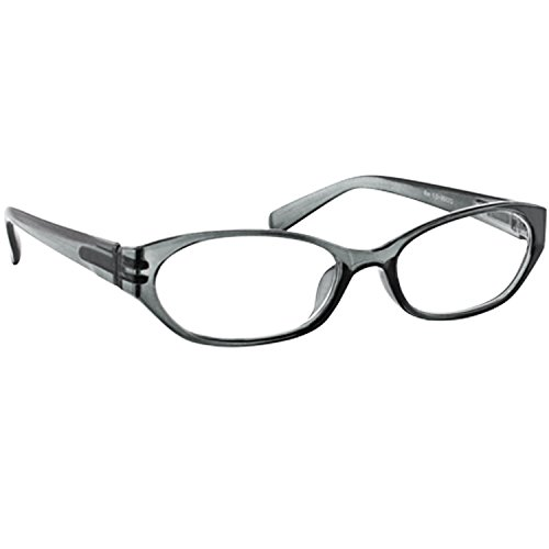 Reading Glasses Gray _ Always have a Stylish Look & Crystal Clear Vision When You Need It! _ Comfort Spring Arms & Dura-Tight Screws _ 100% Guarantee - Glasses Vsp Store