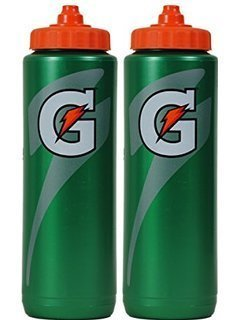 Set of 2 Gatorade Leakproof Green Orange Sport Squeeze Water Bottles 20 Oz by Gatorade