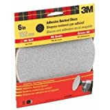 3M 9183DC-NA 6-Inch Medium Grit Adhesive Backed Sanding Disc by 3M