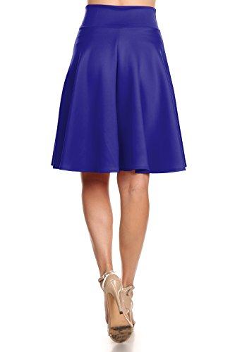 85311ba831 Simlu Womens Skater Skirt, A Line Flared Skirt Reg & Plus Size Skater Skirts  USA Royal Blue - Midi XXX-Large