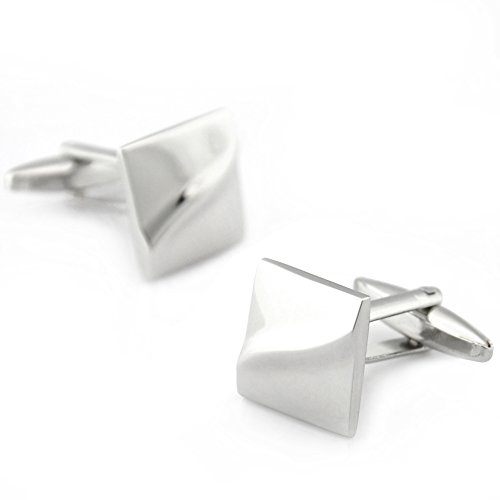 Father's Day Gift Mens Solid Square Shirt Wedding Cufflinks Gift Boxed (Gift Cufflink Set Boxed)