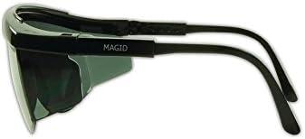 Magid Glove /& Safety Y30BKGY-AMZN Gemstone Sapphire Y30 Protective Eyewear Polycarbonate/ Standard Black