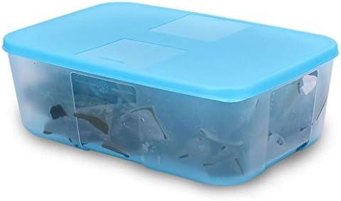 MLXBXH Caja De Almacenamiento Refrigerada De La Cocina, Caja De Plástico Sellada Caja De Almacenaje Azul Grande De La Caja Sellada De Plástico (Tamaño : B): Amazon.es: Hogar
