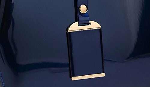 ZXCB Damentasche Lackleder Schultertasche Brauttasche Vintage Elegante Handtasche Geldbörse Blue fnrQHhxJ