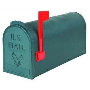 Flambeau T-R4505GR Standard Classic Mailbox, Rural Style, #1, Green by Flambeau Inc. (Image #1)