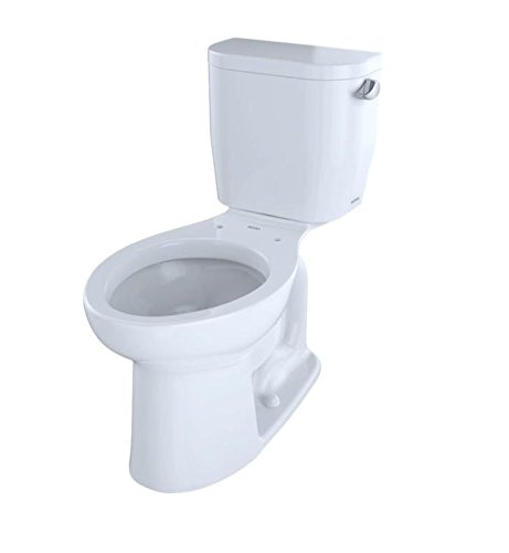 TOTO CST244EFR#01 Entrada Commercial Elongated Toilet 1.28 GPF Right Hand Trip Lever, Cotton White, 2-Piece