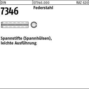 Spannh/ülsen DIN 7346 Federstahl Spannstifte Abmessung: 4x20 leichte Ausf/ührung 200 St/ück