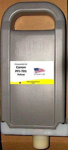 (Compatible Canon PFI-701Y Cartridge- Yellow)