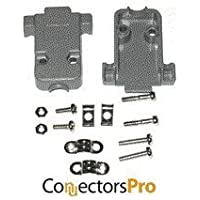 Pc Accessories - Connectors Pro Gray Plastic Hood For DB9 / HD15 Connectors Short Screws, 50 pack