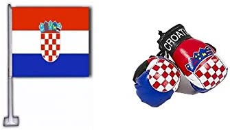Croatia Flag//Croatian mini boxing gloves for your car mirror-Get the best.