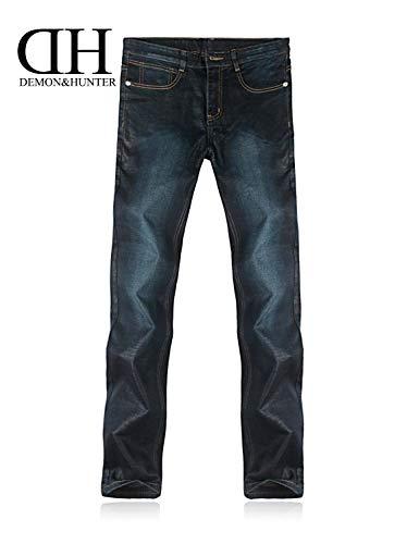 Mens Jeans Dunkelblau Cut Pantaloni A 802 Huixin Denim Dritta In Casual Skinny Feeding Gamba Straight Series Cashmere Retro wxRWITqT0E