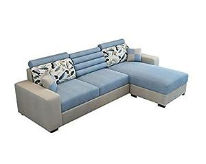 Lillyput Interio Modern L Shape Fabric Sofa