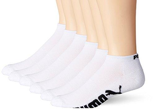 Puma - Calcetines para hombre (6 unidades), Blanco, Zapato 6-12 (M) US