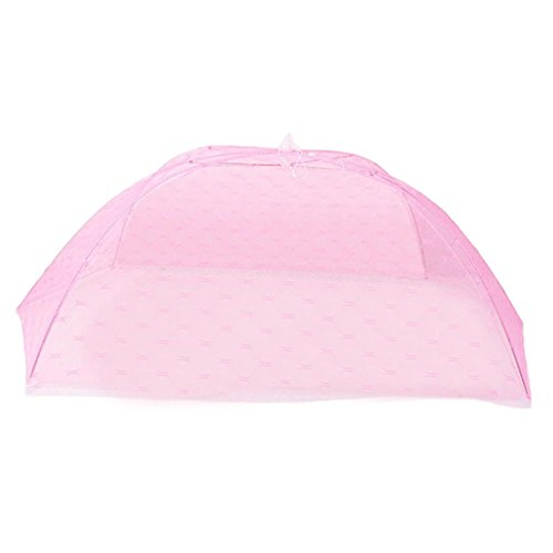 Fineser Baby Crib Tent Safety Mosquito Net ,Pop Up Canopy Cover For Infant Toddler Bed Foldable Dome Canopy Netting (Pink) from Fineser