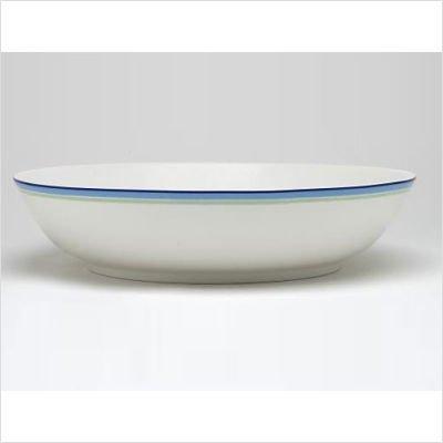 Noritake Java Blue Swirl 12-1/2-Inch Pasta Serving Bowl