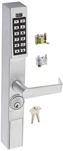 Alarm Lock Trilogy T2 100-User Narrow Stile Electronic Digital Keypad Outside Trim, Satin Chrome Finish