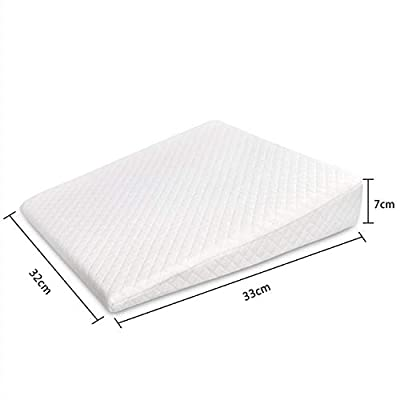 Baby Crib Wedge Baby Sleep Pillow Anti Baby Spit Milk Crib Cot Sleep Positioning Wedge Pillow Memory Foam Infant Nursing Pillow