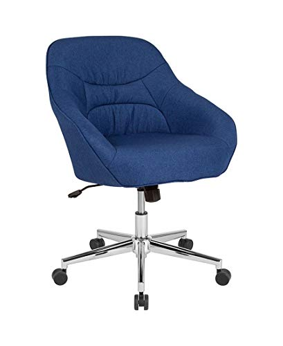 Offex Marseille Fabric Upholstered Home and Office Mid Back Chair - Blue