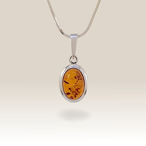 Amber Pendant, Christmas gift jewelry, 925 Sterling Silver, Gift Jewelry, Anniversy Gifts, Gift for her, Free jewelry packaging