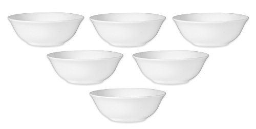 Nevaeh White by Fitz and Floyd White Grand Fruit Bowl (Set Of 6) ()