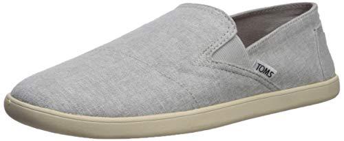 (TOMS Men's PICO Loafer Flat, Drizzle Grey slub Chambray, 12 D Medium US)