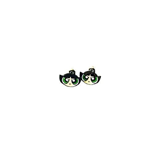 Powerpuff Girls Buttercup Logo Superhero Cartoon Post Stud