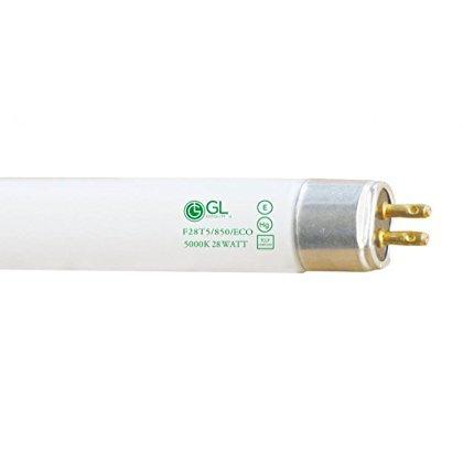 Goodlite G10747 F28T5/850/ECO Straight 28-watt 45.80-Inch T5 Linear Fluorescent Lamp Mini Bi Pin Base, 5000K, 40-Pack