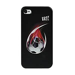 Fire Football Pattern Hard Case Cover for iPhone 4/4S