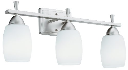 Lithonia Lighting 11533 BN M2 Ferros Energy Star 3-Light Indoor Vanity Light, Brushed (Ferros Energy Star Lighting)