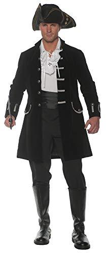 Mens Adult Fully Lined Flocked Velvet Black Jacket Halloween Costume Accessory