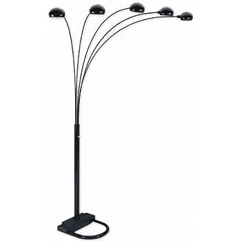Nice Spider 5 Arc Arm Sofa Sectional Floor Lamp Black