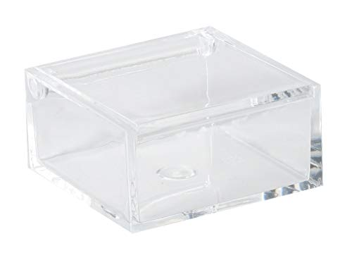 Clear Lucite Plastic Storage Box with Hinged Lid-Acrylic Boxes For Wedding, Party Favor, Treats, Candy Mini Gifts, Sewing Set, Cosmetic Organizer 3.94