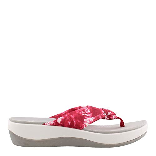 Pink Thongs Sandals Shoes - CLARKS Women's, Arla Glison Thong Sandals Rose 11 M