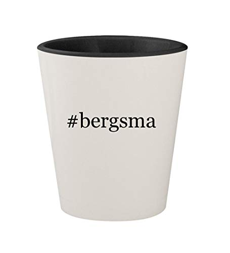 - #bergsma - Ceramic Hashtag White Outer & Black Inner 1.5oz Shot Glass