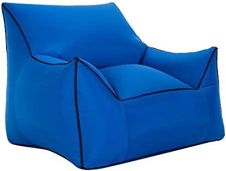 ソファー 屋外インフレータブルソファレジャー用ポータブルシート|プールビーチサンバスソファー|フリーエアーポンプ|積載量200kg | 80×95×80cm A+ (Color : Dark blue)