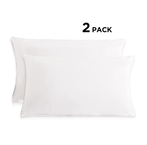 "Everest Supply Premium Plus Plush Lofty Polyester Standard Pillows - size (20"" x 27"") - SET OF 2.- Hypoallergenic & Machine Washable Luxury Five Star Hotel Quality"