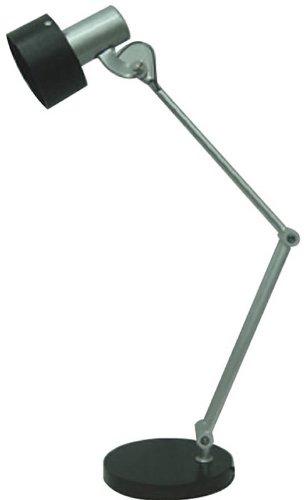 Lite Source LS-21091 Duccio Desk Lamp, Silver with Dark Walnut Shade ()