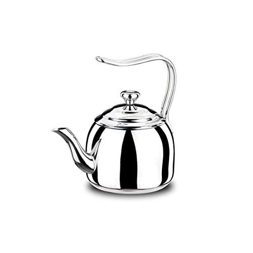 Encapsulated Base (Korkmaz Droppa High-End Stainless Steel Induction-Ready Teapot with Tri-Ply Encapsulated Base (2 Quart))