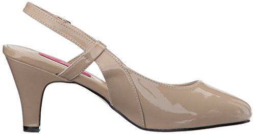 Pleaser Pink Label DIVINE-418 Damen Slingpumps Cream Pat