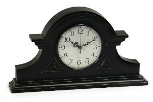 Classic Black Mantle Clock