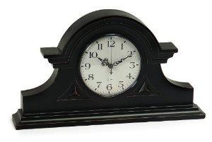 Classic Black Mantle Clock by IMWorldwide