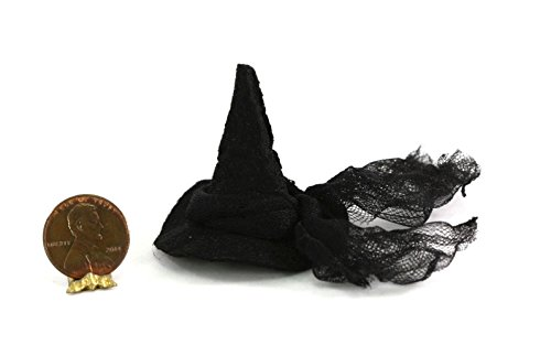 Dollhouse Miniature Black Witch Hat by Shadow Box Miniatures ()