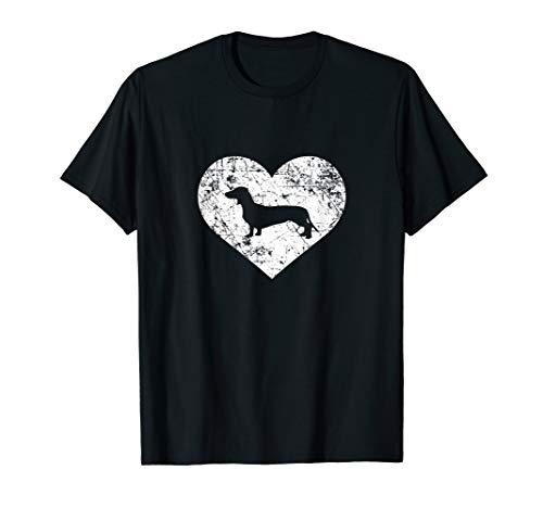 I Love Dachshund Shirt, Doxie Heart Cute Funny Owner Gift