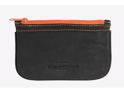 Tobacco Pouch Zipper (4th Generation Leather Pipe Tobacco Pouch ~ Choose Your Style (Zipper Kenzo Black))